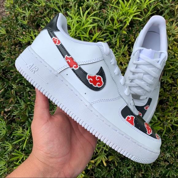 Nike Shoes   Nike Air Force Custom Akatsuki   Poshmark